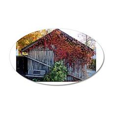 old_barn_card 35x21 Oval Wall Decal