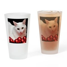xmas_cat_rnd Drinking Glass