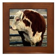 Bull mousepad Framed Tile