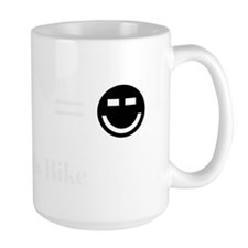 Girl Meets Bike Black Mug