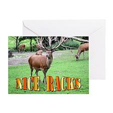 Nice Racks Wall Calendar Greeting Card