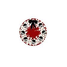 skull-wreath-bow1_j Mini Button