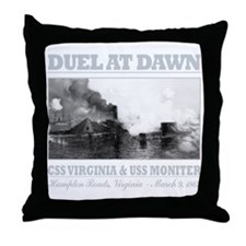 CSS Virginia vs USS Moniter (B)2 Throw Pillow
