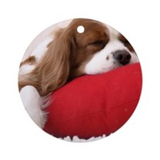 Spaniel tile Round Ornament