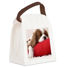 Spaniel tile Canvas Lunch Bag