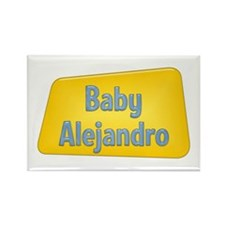 Baby Alejandro Rectangle Magnet (100 pack)