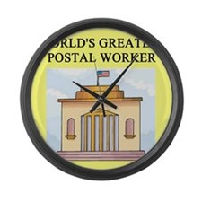 worlds greatest postal worker Large Wall Clock