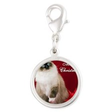 Maddie Merry Christmas Tile Co Silver Round Charm