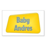 Baby Andres Rectangle Decal