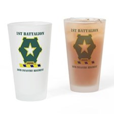 36TH INFANTRY REG. WITH TEXT Drinking Glass