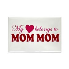 Heart Belongs to Mom mom Rectangle Magnet