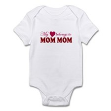 Heart Belongs to Mom mom Infant Bodysuit