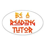 Reading Tutor Oval Decal