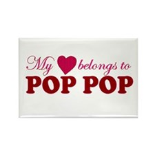 Heart Belongs to Pop pop Rectangle Magnet