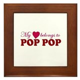 Heart Belongs to Pop pop Framed Tile