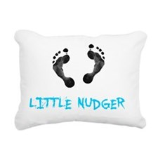 Footprint Nudger Rectangular Canvas Pillow