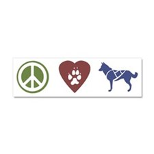 peace_love_sleddogs3 Car Magnet 10 x 3