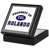Property of rolando Keepsake Box
