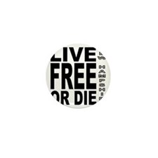 LiveFreeorDieBlack Mini Button