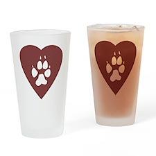 heart_pawprint Drinking Glass