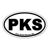 Pine Knoll Shores, NC Euro Oval Car Decal