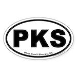 Pine Knoll Shores, NC Euro Oval Car Sticker