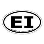 Emerald Isle, North Carolina Oval Car Sticker