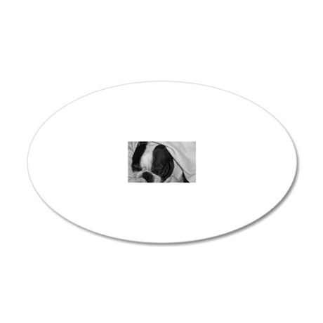 obw greeting 20x12 Oval Wall Decal