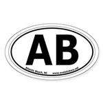 Atlantic Beach, North Carolina Oval Car Sticker