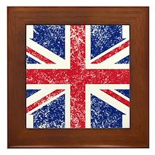 Brit Flag Btn1 Framed Tile