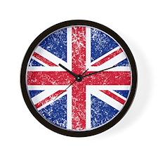 Brit Flag Btn1 Wall Clock