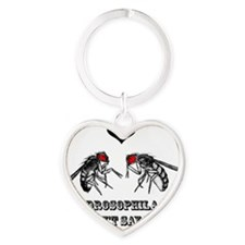 drosophilaredweb Heart Keychain
