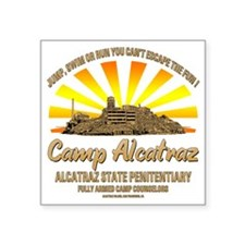 "CAMP_ALCATRAZ Square Sticker 3"" x 3"""