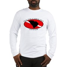 South Carolina Dive Flag Long Sleeve T-Shirt