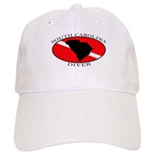 South Carolina Dive Flag Baseball Cap