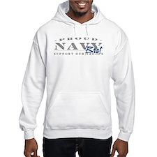 Proud Navy Brat (blue) Hoodie