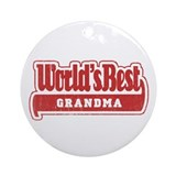 """World's Best Grandma"" Ornament (Round)"
