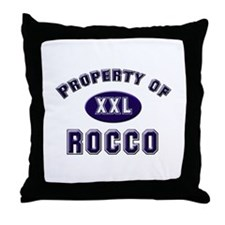 Property of rocco Throw Pillow
