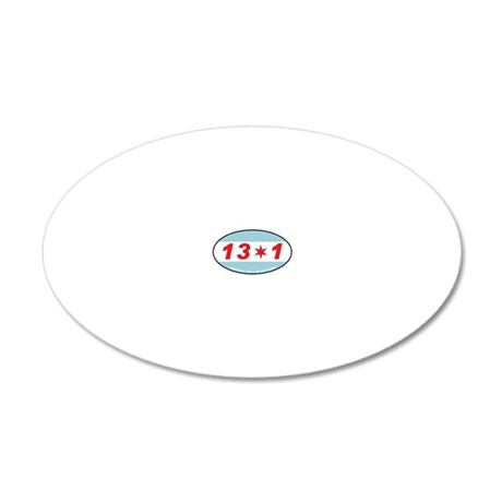 13.1 20x12 Oval Wall Decal