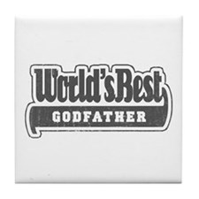 """World's Best Godfather"" Tile Coaster"