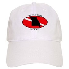 Missouri Dive Flag Baseball Cap
