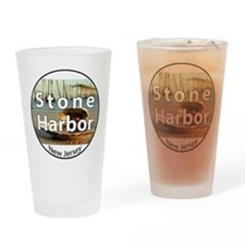 stoneharbor2circle Drinking Glass