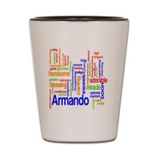 wordlearmando copy Shot Glass
