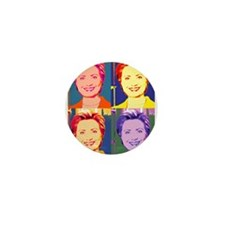 Hillary Clinton Pop Art 4 Mini Button (10 pack)