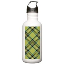 plaid-green_3g Water Bottle