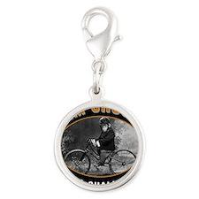 chimp Silver Round Charm
