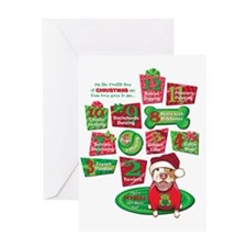 12 Dogs of Christmas Greeting Card