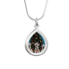 peacejoylovedalmatians Silver Teardrop Necklace