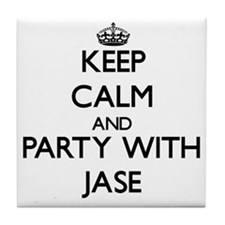 Keep Calm and Party with Jase Tile Coaster