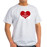Greatest Valentine: Brock Ash Grey T-Shirt